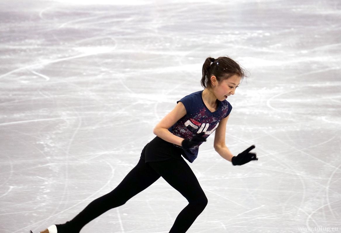 Элизабет Турсынбаева на тренировке