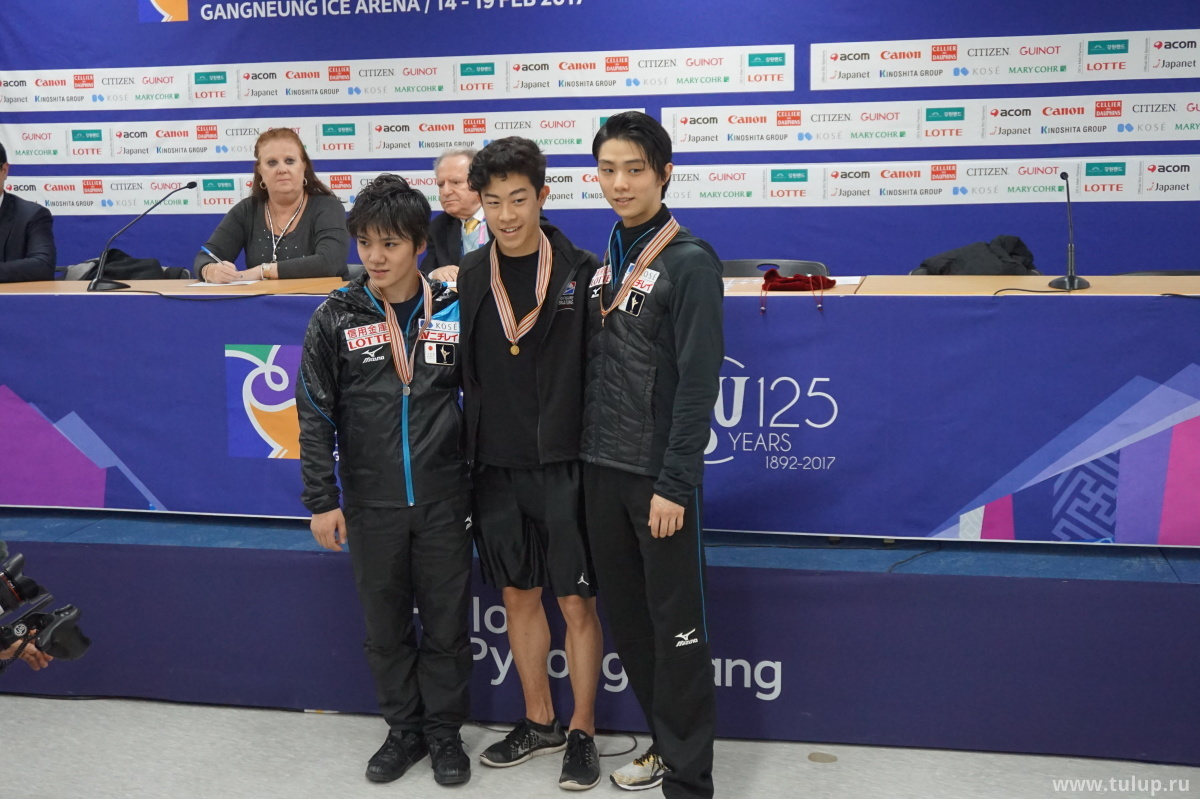 Ваши призеры короткой программы: Shoma Uno, Nathan Chen, Yuzuru Hanyu