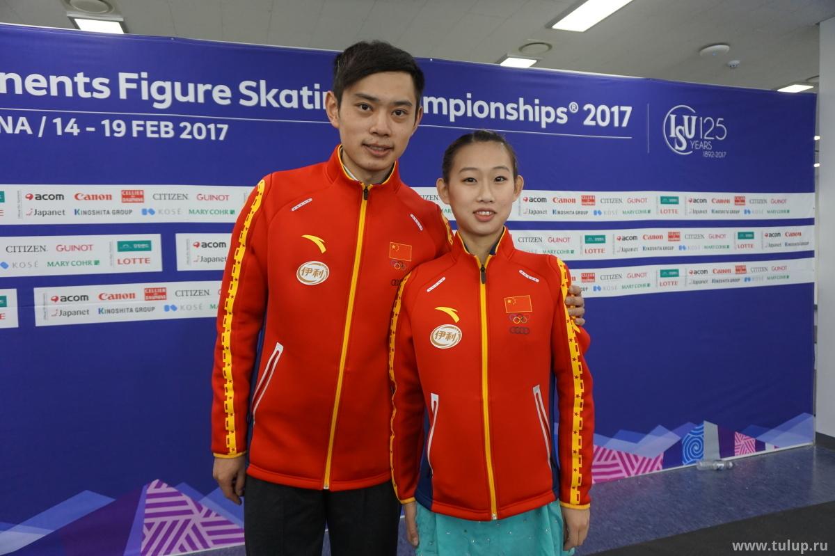 彭程 и 金杨 (Чен Пэн и Цзинь Ян) побеждают в категории единственное безупречное выступление дня