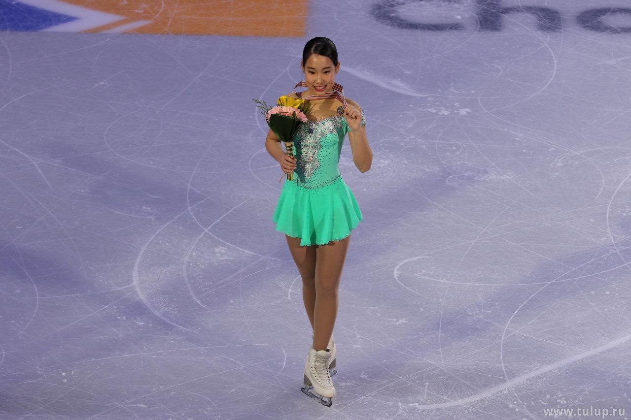 Mai Mihara с золотой медалью ЧЧК 2017