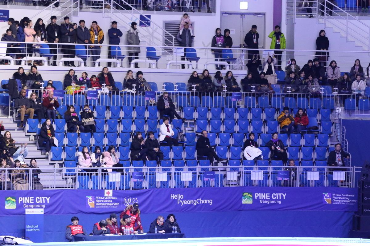 "Korean ""sold out"" — seats are half-empty"
