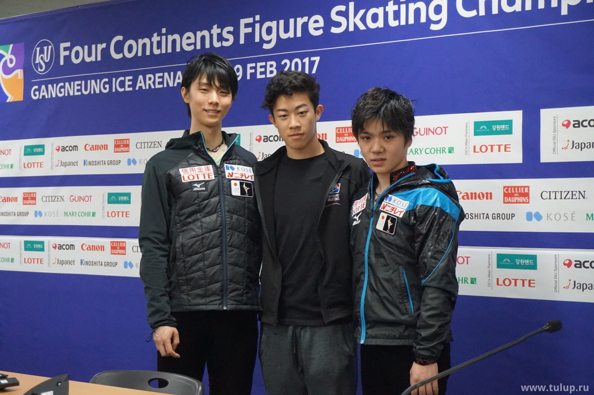 Nathan Chen, Yuzuru Hanyu. Shoma Uno