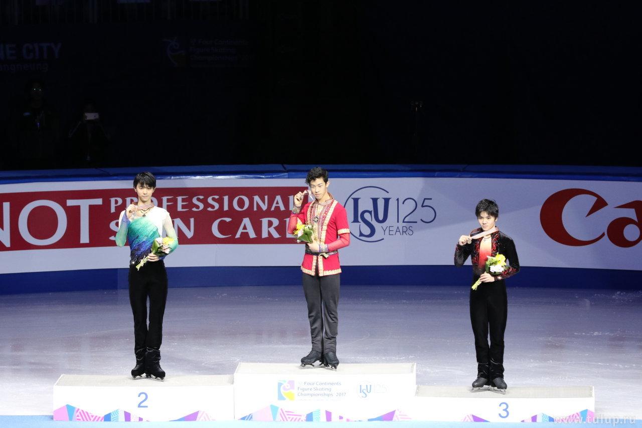 Демонстрация медалей призерами