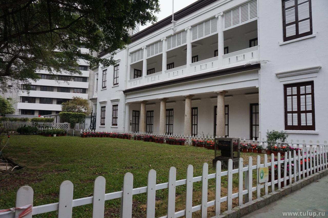 Задний двор музея чайной утвари