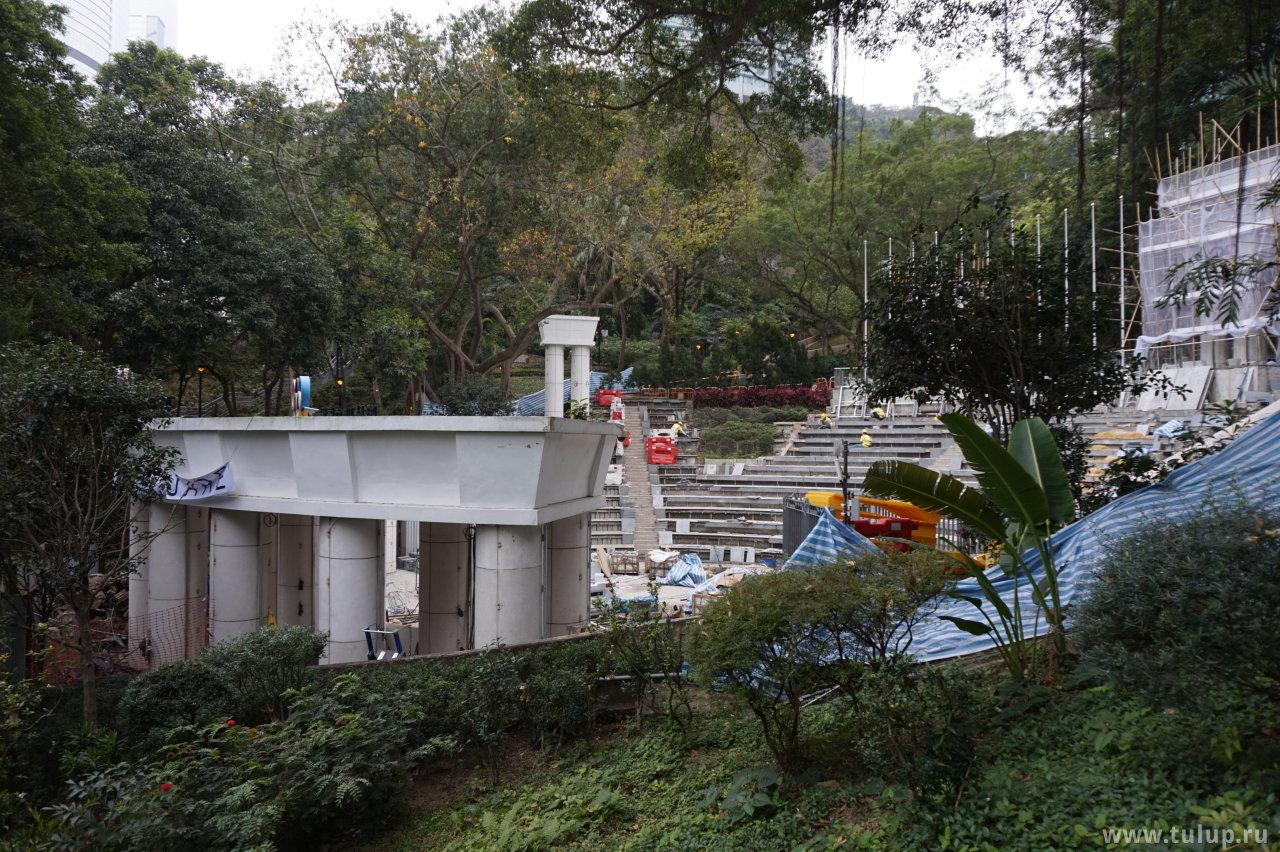 Строящийся олимпийский амфитеатр