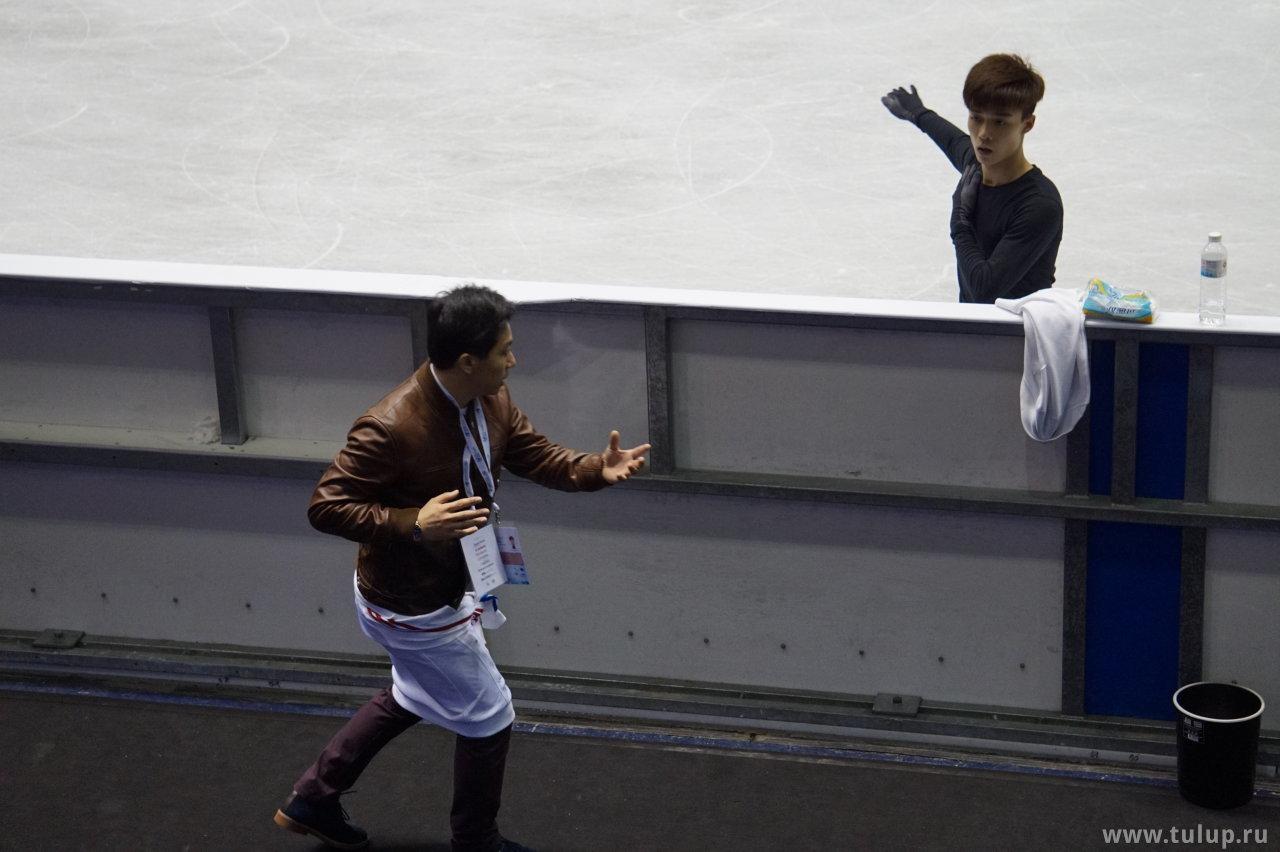 Chih-I Tsao в режиме боя с тенью тренера