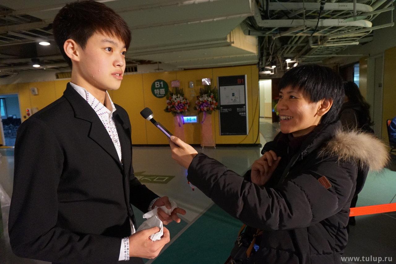 Yuheng Li дает интервью тайваньской прессе