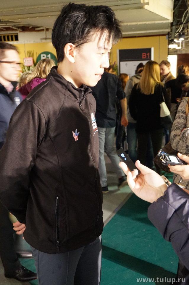 Vincent Zhou дает интервью на китайском