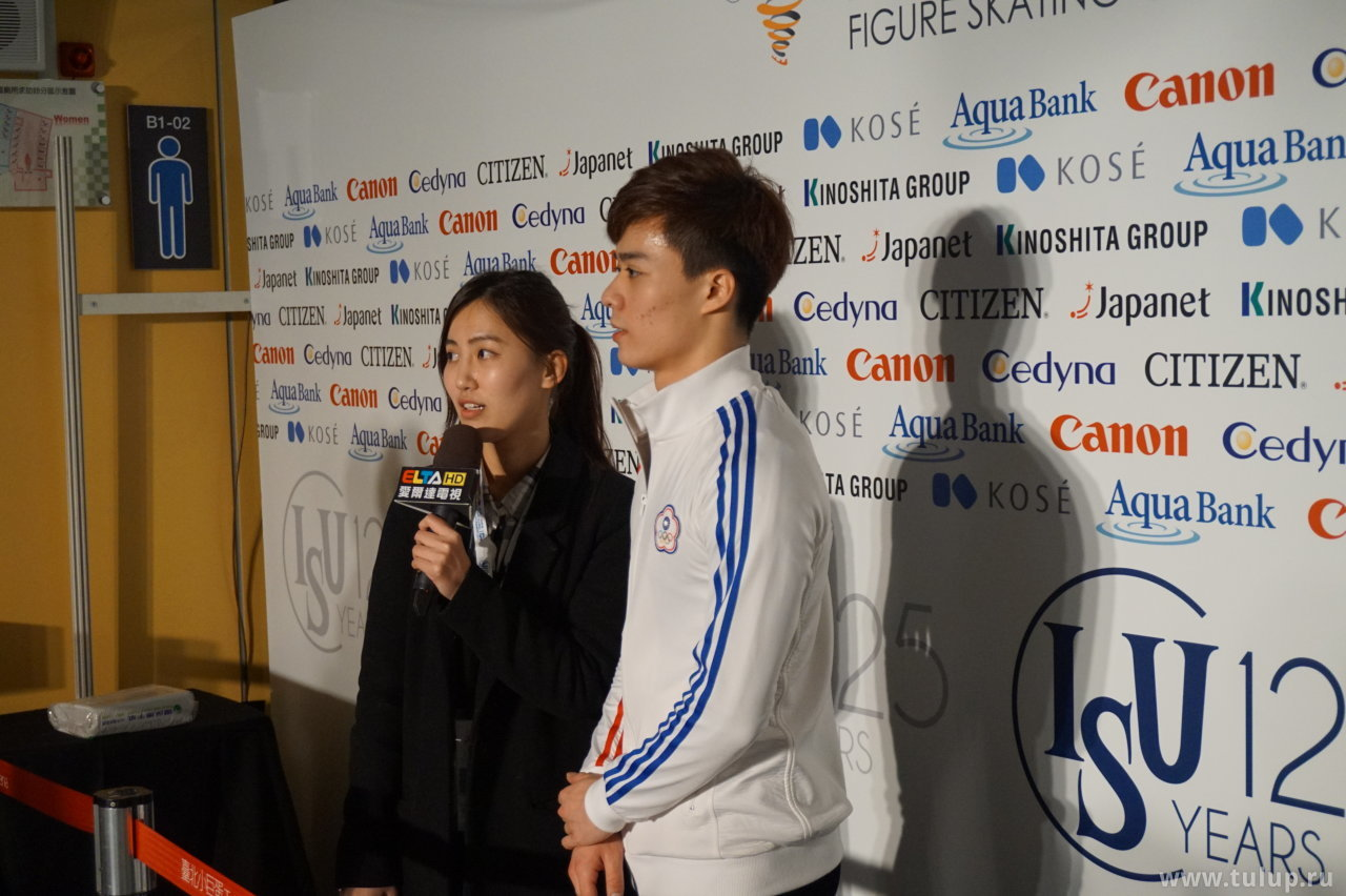 Chih-I Tsao дает интервью тайваньскому телеканалу