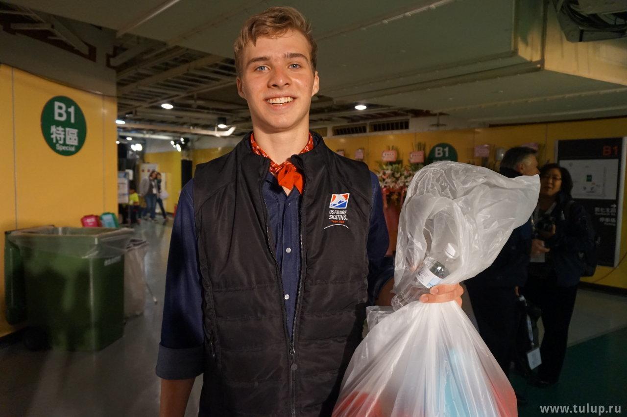 Alexei Krasnozhon на позитиве после произвольной