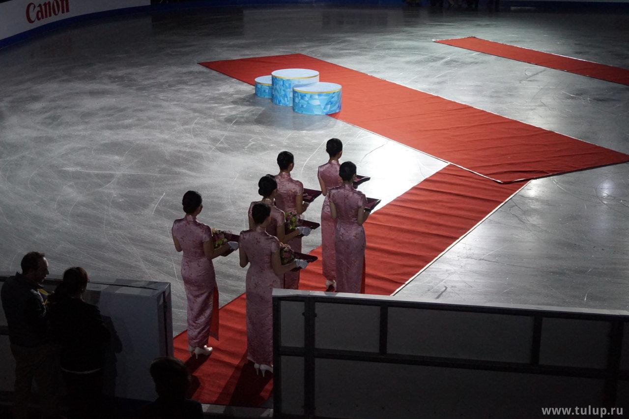 Перед церемонией награждения