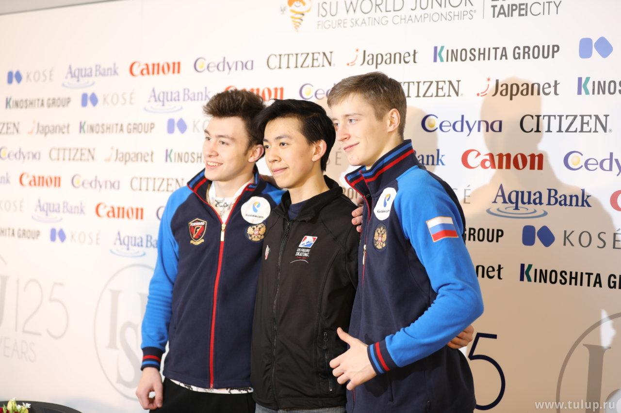 Dmitri Aliev, Vincent Zhou, Alexander Samarin
