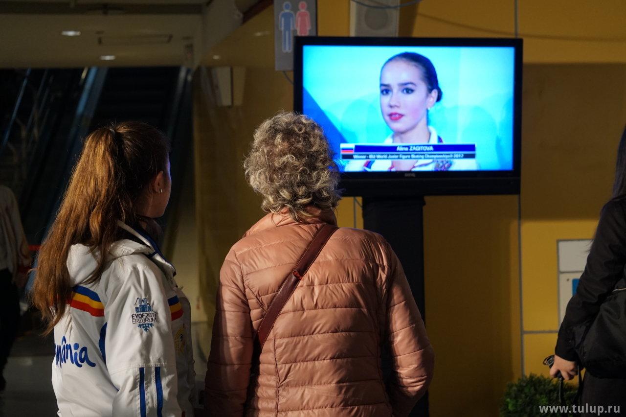 Amanda Stan смотрит интервью Алины Загитовой