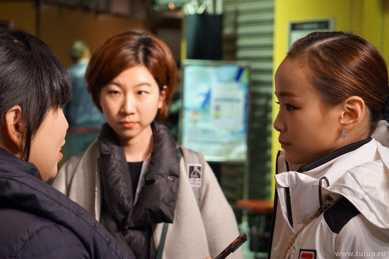 Eunsoo Lim дает интервью Skating China