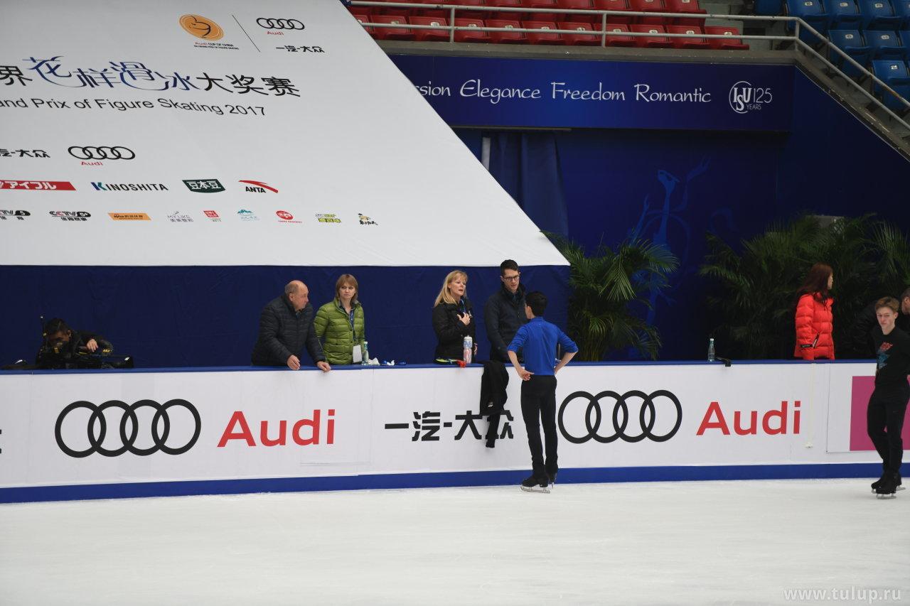 Vincent Zhou с тренерами