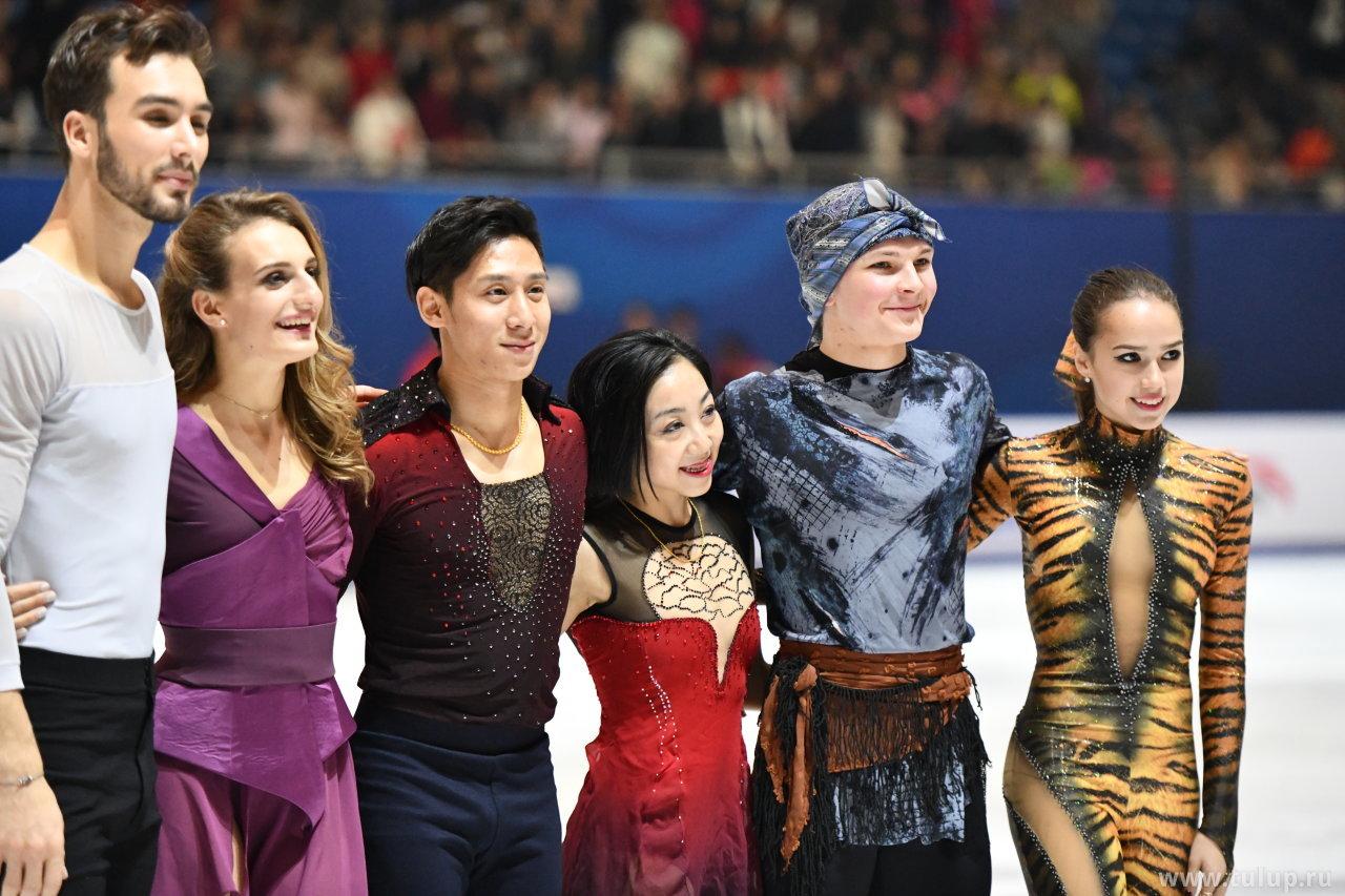 Победители: Gabriella Papadakis — Guillaume Cizeron, Sui Wenjing — Cong Han, Михаил Коляда, Алина Загитова