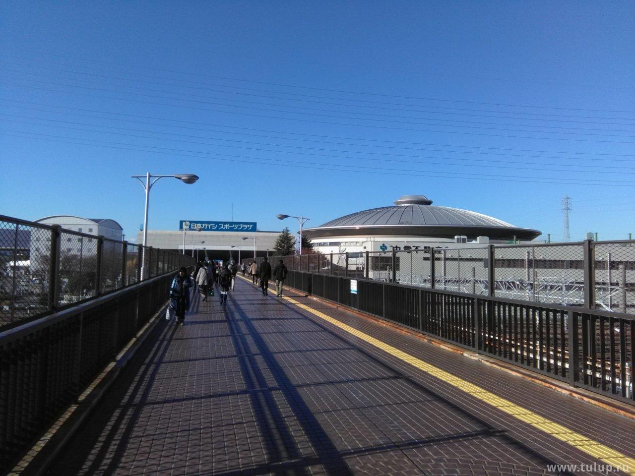 Вид на арену со второго этажа станции