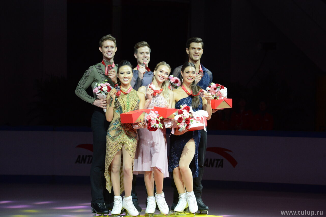 Ice dance podium