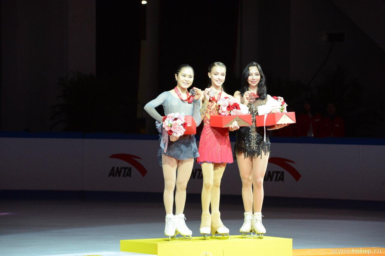 Ladies podium