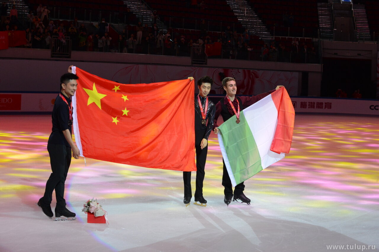 China and Italy on ice